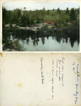 French River Green Bay Lodge 1940 - First cabin stayed at Dad worked with Pioneer Const. Jake & Cecil where there too - Courtesy Jack Heit