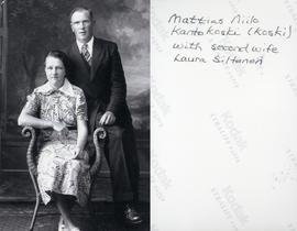 Mattias Niilo Kantokoski (Koski) with second wife Laura Siltanen