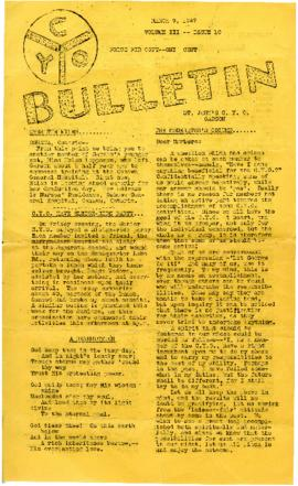 C.Y.O. Bulletin Volume III, Issue 10