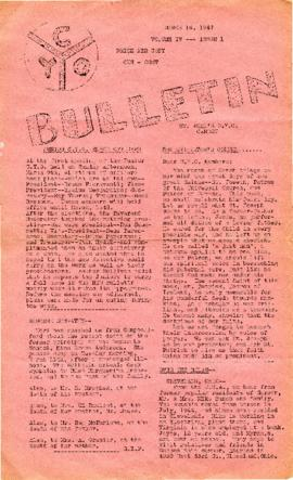 C.Y.O. Bulletin Volume IV, Issue 1
