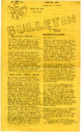 C.Y.O. Bulletin Volume IV, Issue 2
